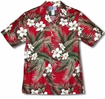 White Hibiscus men's aloha shirt