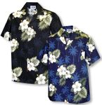 White Hibiscus Monstera Men's Shirt