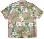 CLOSEOUT White Hibiscus Yellow Plumeria Men's Shirt