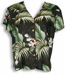 Wild Orchid Hawaiian Blouse by Paradise Found
