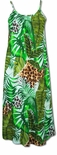 Wild Paradise Jungle Spaghetti Strap Rayon Dress
