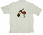 Wine Me Men's Luau Embroidered Shirt