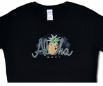 Women's Aloha Maui Pineapple cotton Tee Shirt