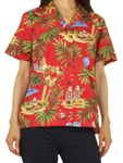 Women's Christmas in Hawaii aloha shirt