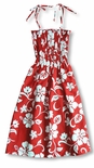 Classic Hibiscus Women's made in Hawaii cotton Tube Dress