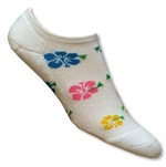 Women's Hibiscus (Puka) Ankle Socks Pack of 2