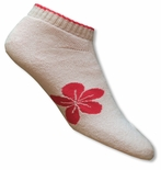 Women's Kahala Pink Plumeria Cuff Socks Pack of 2