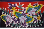 Women's Handpainted Lily Garden Border Sarong