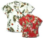 Hawaiian Orchid Womens Fitted Blouse