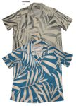 Women's or Men's Palm Fronds rayon camp shirt