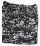 Woodcut Hawaiian Men's Cargo Pocket Shorts