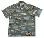 Wooden Boats Men's Paradise Found Rayon Shirt