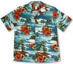 CLOSEOUT Woodie Surf Hibiscus men's shirt