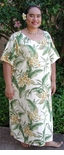 Yellow Plumeria Garden Womens Round Neck Long Dress