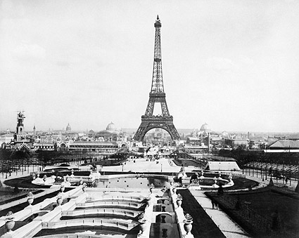 1889 World's Fair Paris Exposition Eiffel Tower  Photo Print