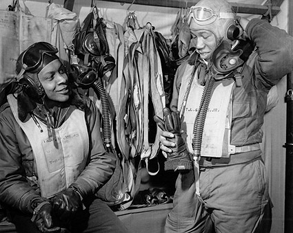 332nd Fighter Group 'Redtails' Tuskegee Airmen in Italy Photo Print