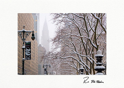 42nd Street Chrysler Building New York Individual Christmas Cards