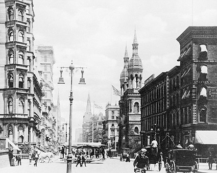5th Avenue / 42nd Street New York City 1885 Photo Print