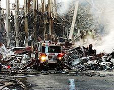 9/11 FDNY Fire Engine at WTC Ground Zero Photo Print for Sale