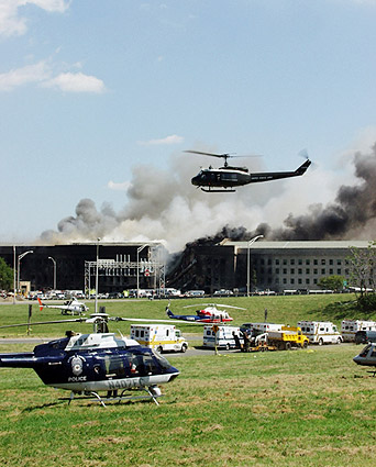 9/11 Pentagon Attack Fire & Rescue Photo Print