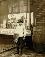 9 Year-Old Newsboy 1910 Photo Print for Sale