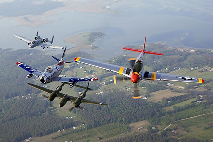 A-10, F-86, P-38 & P-51 Fighters Photo Print