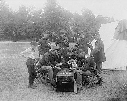 A Game of Poker, Camp McKibbin Photo Print