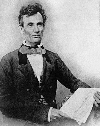 Abraham Lincoln as Illinois Senate Candidate in 1854 Photo Print