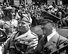Adolf Hitler and Benito Mussolini in Munich WWII Photo Print for Sale