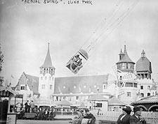 Aerial Swing Luna Park Coney Island NYC Photo Print for Sale