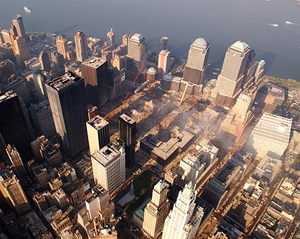 Aerial View of Ground Zero 9/11 Photo Print