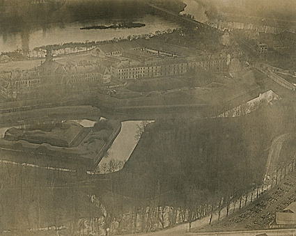 Aerial View of Metz, France WWI Photo Print