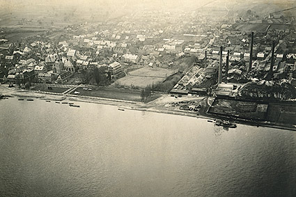 Aerial View of Oestrich, Germany WWI Photo Print