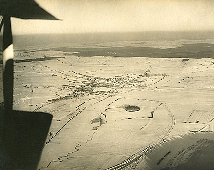Aerial View of Souilly, France WWI Photo Print