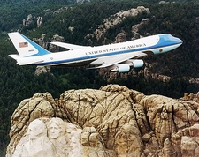 Air Force One 747 Over Mount Rushmore Photo Print