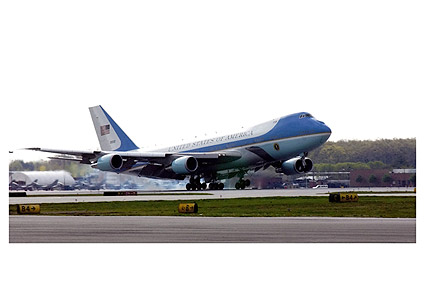 Air Force One Boeing 747 VC-25 Landing Photo Print