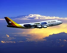 Air Pacific Boeing 747-400 in Flight Photo Print for Sale