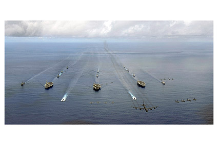 Aircraft Carrier Strike Groups in Exercise Valiant Shield Photo Print