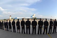 Airmen Greet Obama at Ramstein Air Base, Germany Photo Print for Sale