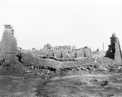 Al-Karnak Village Ruins Nile River Egypt Photo Print