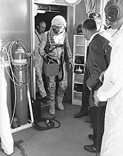 Alan Shepard Prepares for Mercury Freedom 7 Photo Print for Sale