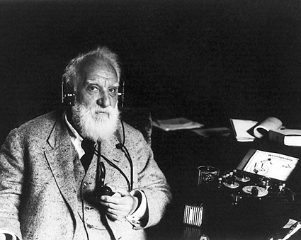 Alexander Graham Bell with Radiophone Headset 1922 Photo Print
