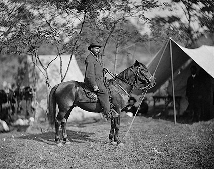 Allan Pinkerton on Horseback Civil War Photo Print