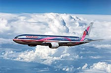 American Airlines Breast Cancer Awareness Boeing 777-200 Photo Print for Sale