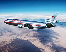 American Airlines DC-10 in Flight Photo Print for Sale