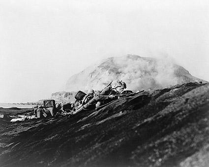 American Marines Land on Iwo Jima 1945 WWII Photo Print