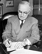 American President Harry Truman Portrait Photo Print for Sale