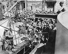 American Soldiers Boarding Ship, Italy WWII Photo Print for Sale