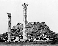 Greek Temple of Olympian Zeus Ancient Greece Photo Print for Sale