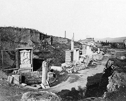 Ancient Greek Tomb of Dexileos Hagia Trias Photo Print